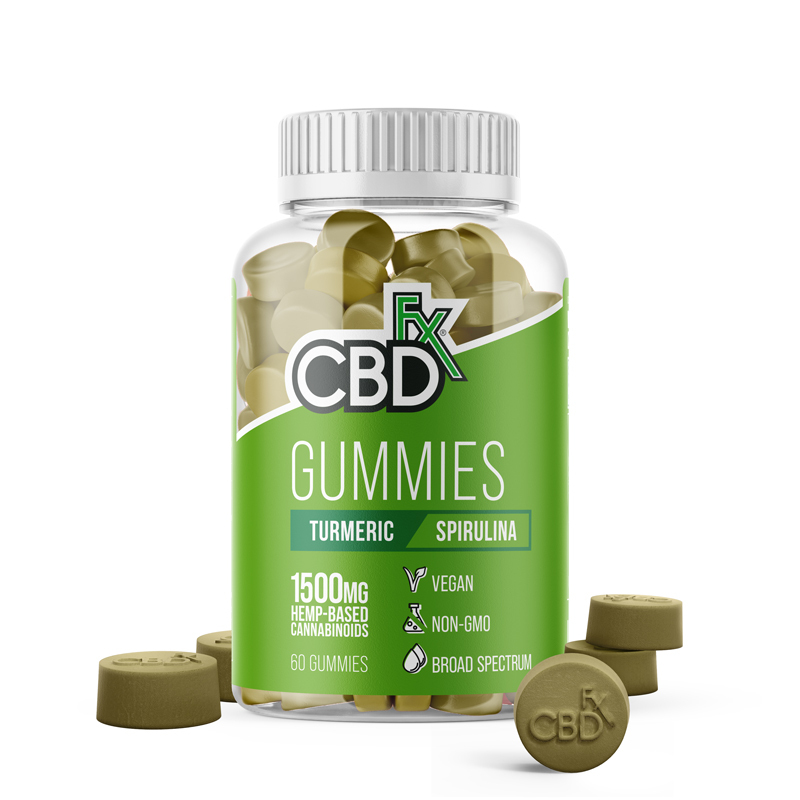 CBD Gummies with Turmeric and Spirulina by CBDFX Review